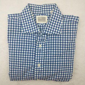 Jack Robie  Gingham Plaid Long Sleeve Button Up